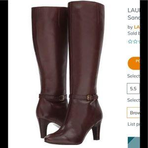 Lauren Ralph Lauren Sandi sz 11 brown leather boot